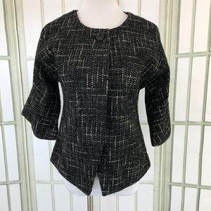 East 5th Tweed Jacket Top Lined 3/4 Bell Sleeves